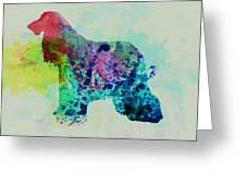 Afghan Hound Watercolor Greeting Card