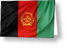 Afghanistan Flag Greeting Card by Les Cunliffe