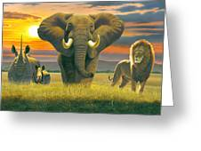 Africa Triptych Variant Greeting Card
