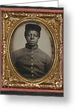 African American Union Soldier Greeting Card