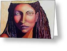 An African Face Greeting Card