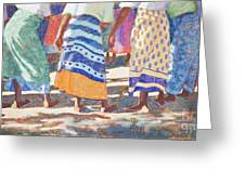 African Colors Greeting Card by Tracy L Teeter