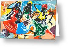 African Dancers No. 2 Greeting Card