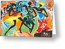 African Dancers No. 3 Greeting Card