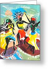African Dancers No. 4 Greeting Card