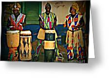 African Drummers Greeting Card