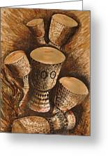 African Drums Greeting Card