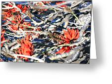 African Flames Greeting Card