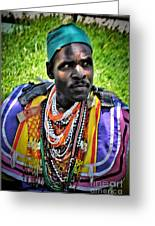 African Look Greeting Card