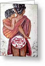 African Mother N Child Greeting Card
