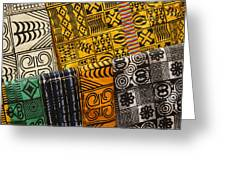African Prints Greeting Card