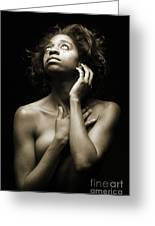 Chynna African American Nude Girl In Sexy Sensual Photograph And In Black And White Sepia 4789.01 Greeting Card