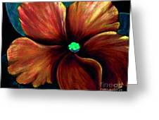 African Violet Golden Red Greeting Card