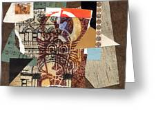 Afro Collage B Greeting Card by Everett Spruill