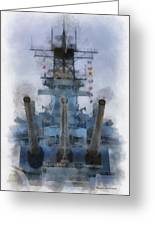 Aft Turret 3 Uss Iowa Battleship Photoart 01 Greeting Card