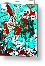 After Pollock Greeting Card