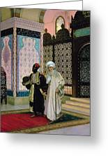 After Prayers At The Mosque Greeting Card by Rudolphe Ernst