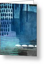 After Rain- Contemporary Abstract Painting  Greeting Card