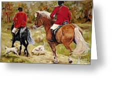 After The Hunt Greeting Card