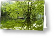 After The Rain On The Valley River Greeting Card