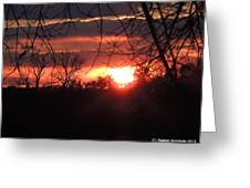 After The Snow Sunset Greeting Card