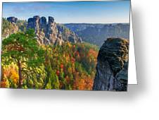 After The Sunrise On The Bastei Greeting Card