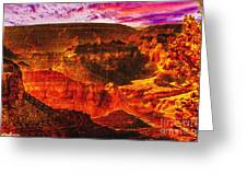 Afterglow Grand Canyon National Park Greeting Card