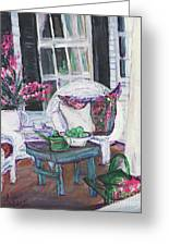 Afternoon At Emmaline's Front Porch Greeting Card