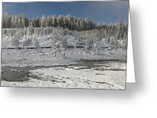 Afternoon At Mud Volcano Area - Yellowstone National Park Greeting Card