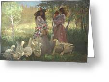 Afternoon Gathering Greeting Card