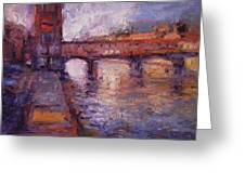 Afternoon On The Arno Greeting Card