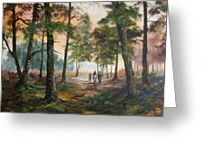 Afternoon Ride Through The Forest Greeting Card