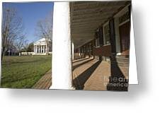 Afternoon Shadows Spread Across The Dorms Rooms Along The Lawn Greeting Card
