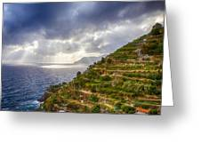 Afternoon Storm Clouds Over The Sea Greeting Card