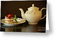 Afternoon Tea And Tiramisu Greeting Card