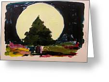 Against The Moon Greeting Card