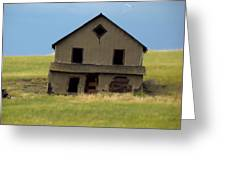 Against The Wind Abandoned Homestead Greeting Card