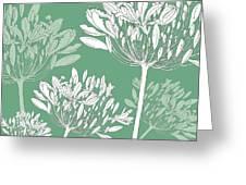 Agapanthus Breeze Greeting Card