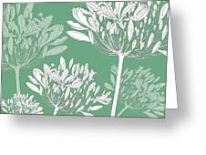 Agapanthus Breeze Greeting Card
