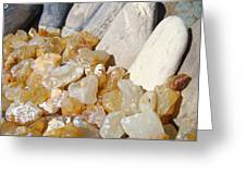 Agate Rocks Beach Art Prints Agates Greeting Card