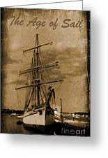 Age Of Sail Poster Greeting Card by John Malone Halifax photographer