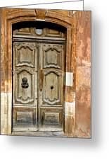 Aged Door In Provence Greeting Card