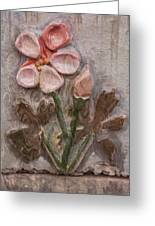 Aged Pink Beauty Greeting Card