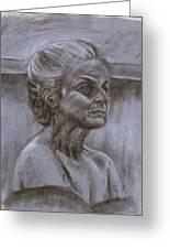 Aged Woman Greeting Card