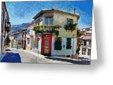Agiassos Village Greeting Card
