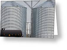 Agricultural Grain Silos Exterior Railway Wagon Greeting Card
