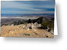 Aguereberry Point View Of Death Valley #4 Greeting Card