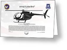 Ah-6j Little Bird Night Stalkers Greeting Card