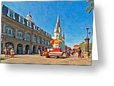 Ahh...new Orleans Impasto Greeting Card by Steve Harrington