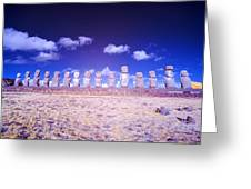 Ahu Tongariki Infrared Greeting Card